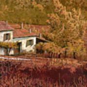 Autunno Rosso Art Print by Guido Borelli