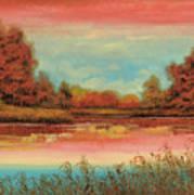 Autunno Sul Lago Art Print