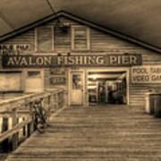 Avalon Fishing Pier Art Print