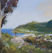 Avalon Harbor - Taking The High Road Catalina Island Oil Painting Art Print