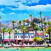 Avalon Waterfront, Catalina Art Print