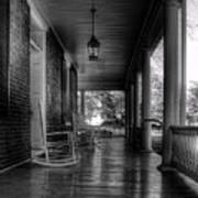 Avenel Front Porch - Bw Art Print by Steve Hurt