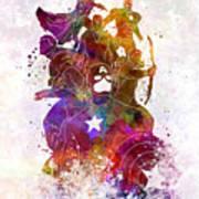 Avengers 02 In Watercolor Art Print