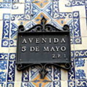 Avenida 5 De Mayo Art Print