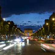 Avenue Des Champs Elysees. Paris Art Print by Bernard Jaubert