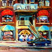 Avenue Du Parc Cafes Art Print