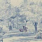 Avenue In A Park Arles, May 1888 Vincent Van Gogh 1853 - 1890 Art Print