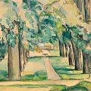 Avenue Of Chestnut Trees At The Jas De Bouffan Art Print