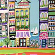 Avenue With Sailboats Art Print