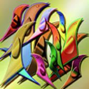 Aviary In Harmony Art Print