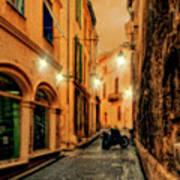 Avignon Alley At Sunset Art Print