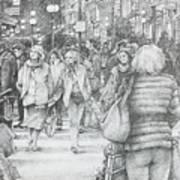 Avignon Shoppers Art Print