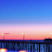 Avila Beach Pier At Sunset Art Print