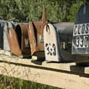 Awaiting Mail  Art Print