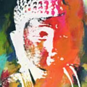 Awakened Buddha 5- Art By Linda Woods Art Print