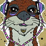 Awesome Otter Art Print