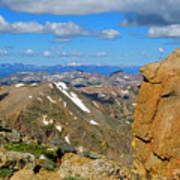 Awesome View From The Mount Massive Summit Art Print