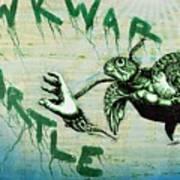 Awkward Turtle Art Print by Tai Taeoalii