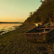 Axe Estuary Boat  Art Print