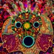 Ayahuasca Dimensional Encounter Art Print