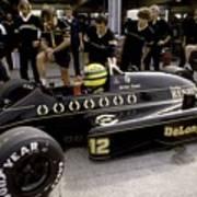 Ayrton Senna. 1986 German Grand Prix Art Print