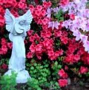 Azalea Garden Angel Art Print