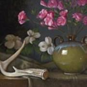 Azaleas And Dogwood Art Print by Timothy Jones