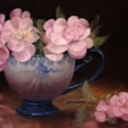Azaleas In A Cup Art Print by Loretta Fasan