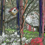 Azaleas In Spring Art Print