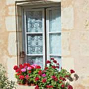 Azay Le Rideau Bridge, Window, Lace Art Print