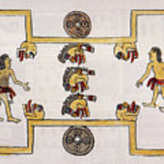 Aztec Ball Game Art Print