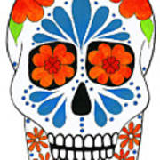 Aztec Inspired Sugarskull Art Print