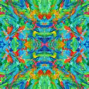 Aztec Kaleidoscope - Pattern 026 Art Print