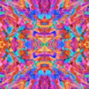 Aztec Kaleidoscope - Pattern 030 Art Print