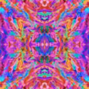 Aztec Kaleidoscope - Pattern 032 Art Print