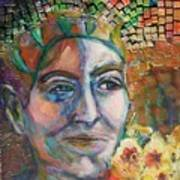 Aztec Woman Art Print