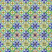 Azulejos Magic Pattern - 11 Art Print