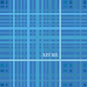 Azure Blue Abstract Art Print