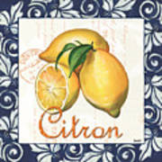 Azure Lemon 2 Art Print