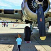 B-17 Engine Aircraft Wwii Art Print