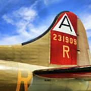 B-17 Tail Wwii Art Print