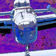 B-25 Blue Purple Art Print