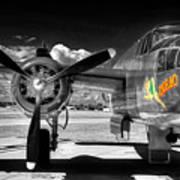 B-25 Mitchell Infrared Art Print