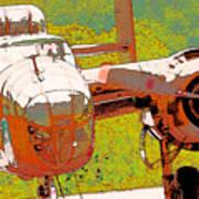 B-25 Red B Art Print