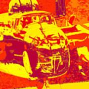 B-25 Red Yellow Art Print