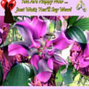 B Exton  Flowering Of Delights  Bigstock 164301632  2991949 Art Print