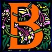 B In Orange Art Print