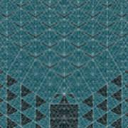 B - N W B  -  Blue Netwireblast Art Print