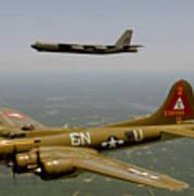 B17g And B52h In Flight Art Print