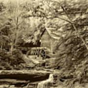 Babcock State Park Wv - Sepia Art Print